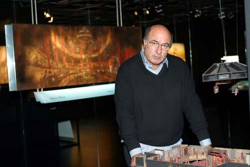 Dante Ferretti in his studio workshop