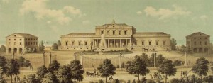 The Kursaal bathing complex in Rimini in the 1800s