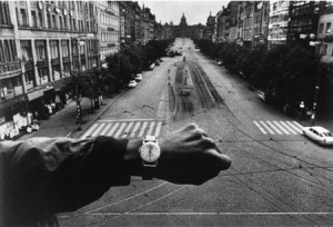 Josef Koudelka's famous image of Prague's Wenceslas Square, totally empty at noon on August 21, 1968, during the Warsaw Pact invasion of Czechoslovakia